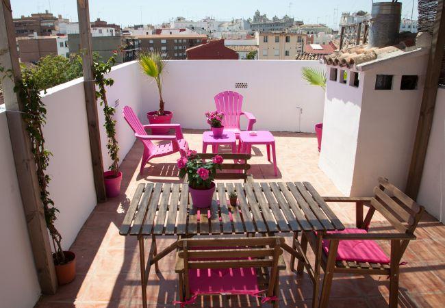 Apartamento en Valencia - Flats Friends Torres Quart 1 dormitorio con terraza