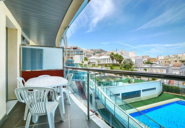 Apartamento en Calpe - Flats Friends Borumbot 1 dormitorio con vista piscina